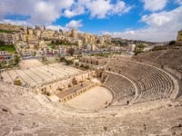 Клуб путешествий Павла Аксенова. Иордания. Амман. Римский театр. Aerial view of Roman Theatre in Amman, Jordan. Фото richie0703 - Depositphotos
