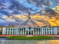 Parliament House in the evening. Canberra, Australia. Фото Leonid_Andronov - Depositphotos