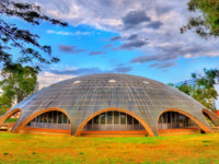 The Shine Dome, the headquarters of the Australian Academy of Science in Canberra. Built in 1959. Фото Leonid_Andronov - Depositphotos