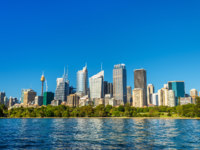 Skyline of Sydney central business district - Australia, New South Wales. Фото Leonid_Andronov - Depositphotos