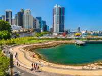 Nawi Cove in Barangaroo district of Sydney - Australia. Фото Leonid_Andronov - Depositphotos