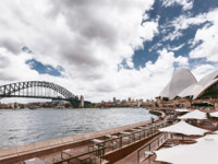 Sydney Harbour Bridge seen from Milsons point, Australia. Фото duha127 - Depositphotos