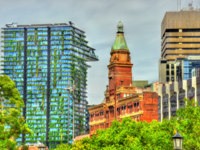 Buildings on Railway Square in Sydney- Australia, New South Wales. Фото Leonid_Andronov - Depositphotos