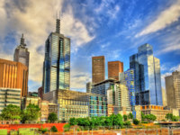 Skyscrapers of Melbourne Central Business District in Australia. Фото Leonid_Andronov - Depositphotos