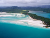 Клуб путешествий Павла Аксенова. Австралия. Great Barrier Reef. Whitehaven Beach Whitsundays, Queensland - Australia - Aerial View. Фото antsyd - Depositphotos