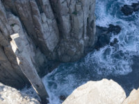 Cape Hauy cliffs in Tasmania with the Candlestick and the Totem Pole. Фото stockarch - Depositphotos