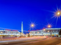 Белоруссия. Город-герой Минск. Central Victory Square in Minsk. Belarus. Фото zx6r92 - Depositphotos