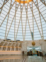 Белоруссия. Город-герой Минск. Hall inside dome of the Belarusian Museum Of The Great Patriotic War in Minsk, Belarus. Фото Ryhor - Depositphotos