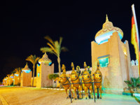 Египет. Синай. Курорт Шарм-эль-Шейх. The rampart of Fantasia palace, Sharm El Sheikh, Egypt. Фото efesenko - Depositphotos