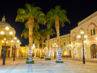 Египет. Синай. Курорт Шарм-эль-Шейх. Evening in Sharm El Sheikh resort, Egypt. Фото efesenko - Depositphotos