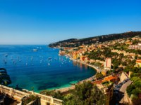 Лазурный берег Франции. Вильфранш. Villefranche sur mer on the french riviera france cote d'azur. Фото STYLEPICS - Depositphotos