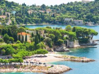 Лазурный берег Франции. Вильфранш. View of luxury resort and bay of Villefranche. Cote d'Azur. french riviera. Фото LiliGraphie - Depositphotos