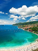 Лазурный берег Франции. Вильфранш. View of luxury resort and bay of Cote d'Azur. french riviera. Фото Liliana Fichter - Depositphotos