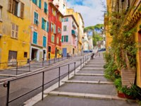Town of Nice romantic french colorful street architecture view, tourist destination of French riviera, Alpes Maritimes depatment of France. Фото xbrchx - Depositphotos