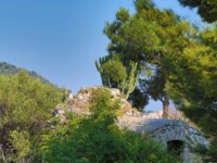 Лазурный Берег Франции. Ницца. The eastern side of the Castle Hill in Nice with trees and ruins. Фото luziana - Depositphotos
