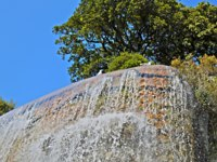 Лазурный Берег Франции. Ницца. Waterfall of Castle Hill in Nice, France. Фото luziana - Depositphotos