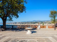 Лазурный Берег Франции. Ницца. Tour bellanda tower viewpoint in Nice city, Cote d'Azur region in France. Фото saiko3p - Depositphotos