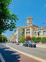 Лазурный Берег Франции. Ницца. View of School Massena building in Nice, France. Фото magone - Depositphotos