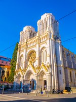 Лазурный Берег Франции. Ницца. Basilica of Our Lady of the Assumption in Nice, France. Фото Dudlajzov - Depositphotos