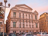 Opera de Nice located on the city promenade, that leads along the luxury hotels, expensive stores, best cafes, on April 24 in Nice. Фото efesenko - Depositphotos