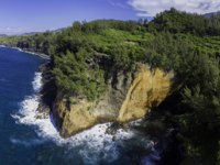 Заморские территории Франции. Остров Реюньон. Reunion Island Drone View Cap Jaune Yellow Cliff. Фото fabrice.my-lovely-planet.com-Depositphotos