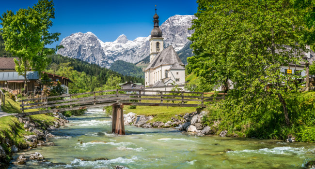Клуб Павла Аксенова. Германия. Бавария. Ramsau mountain village, Berchtesgadener Land, Bavaria, Germany. Фото pandionhiatus3 - Depositphotos