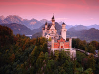Германия. Бавария. Замок Нойшванштайн. Neuschwanstein Castle in the Bavarian Alps of Germany. Фото ondrej.prosicky.cz-Depositphotos