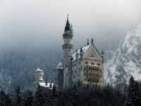 КлубПавла Аксенова. Германия. Бавария. Замок Нойшванштайн. Neuschwanstein Castle in winter landscape. Germany. Фото AlexTimaios-Depositphotos