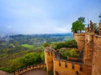 Германия. Баден-Вюртемберг. Замок Гогенцоллерн. Landscape view of Hohenzollern. Фото serrnovik - Depositphotos