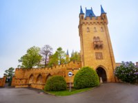 Германия. Баден-Вюртемберг. Замок Гогенцоллерн. Hohenzollern Castle in Baden-Wurttemberg, Germany. Фото serrnovik - Depositphotos