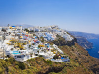 Клуб путешествий Павла Аксенова. Греция. Остров Санторини. Santorini View - Greece. Фото Violin Depositphotos