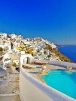 Клуб путешествий Павла Аксенова. Греция. Остров Санторини. Luxury Greek holidays - Santorini. Фото Maugli - Depositphotos