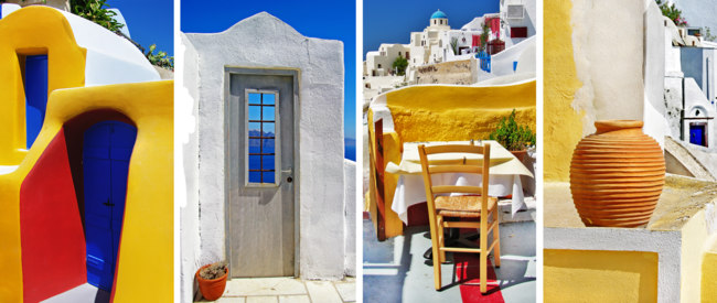 Клуб путешествий Павла Аксенова. Греция. Остров Санторини. Santorini - travel in Greek islands. Фото Maugli - Depositphotos