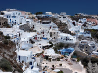 Клуб путешествий Павла Аксенова. Греция. Остров Санторини. Santorini. Фото dashek Depositphotos