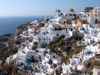Клуб путешествий Павла Аксенова. Греция. Остров Санторини. White Santorini houses. Фото cynoclub Depositphotos