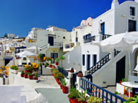 Клуб путешествий Павла Аксенова. Греция. Остров Санторини. Santorini, resorts of Fira. Фото Maugli - Depositphotos