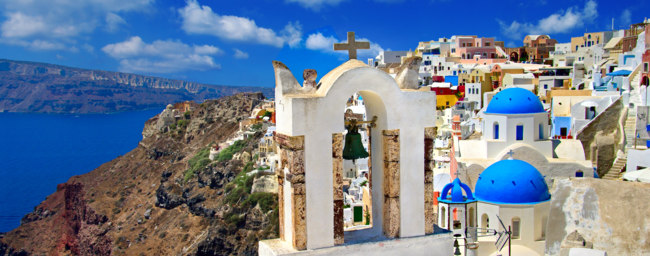 Клуб путешествий Павла Аксенова. Греция. Остров Санторини. Colors of Santorini. Фото Maugli - Depositphotos