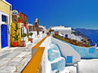 Клуб путешествий Павла Аксенова. Греция. Остров Санторини. Colorful Greece - Santorini. Фото Maugli - Depositphotos