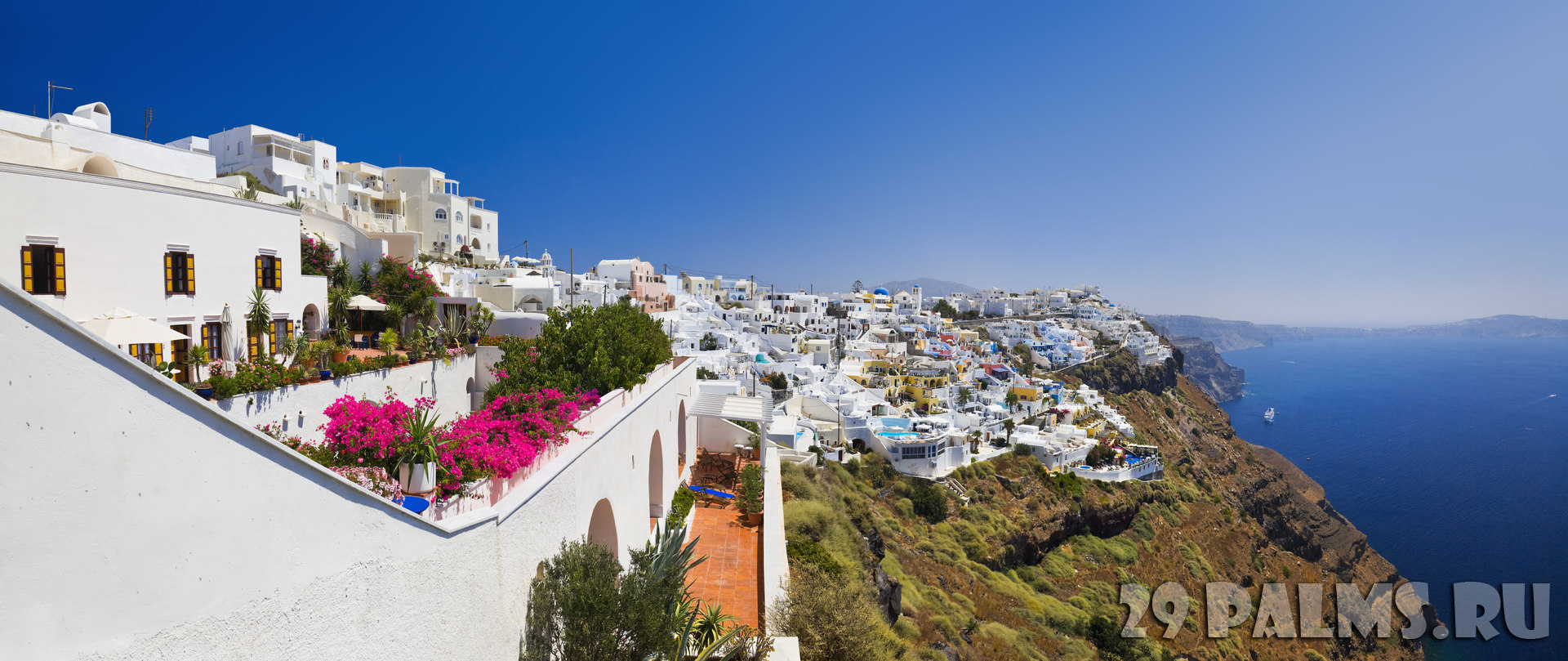Клуб путешествий Павла Аксенова. Греция. Остров Санторини. Santorini View - Greece. Фото Violin - Depositphotos
