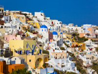 Клуб путешествий Павла Аксенова. Греция. Остров Санторини. Santorini view (Oia), Greece. Фото Violin - Depositphotos