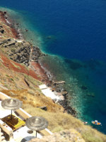 Клуб путешествий Павла Аксенова. Греция. Остров Санторини. The blue lagoon in Santorini. Фото Galyna Gumenyuk-Olszak Depositphotos