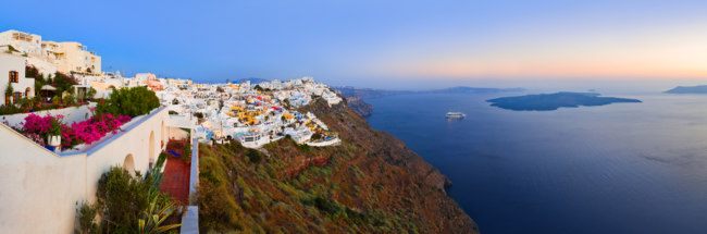 Клуб путешествий Павла Аксенова. Греция. Остров Санторини. Santorini sunset. Фото Nikolai Sorokin - Depositphotos