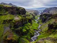 Клуб путешествий Павла Аксенова. Исландия. Thorsmork mountains canyon and river, near Skogar, Iceland. Фото martinm303 - Depositphotos
