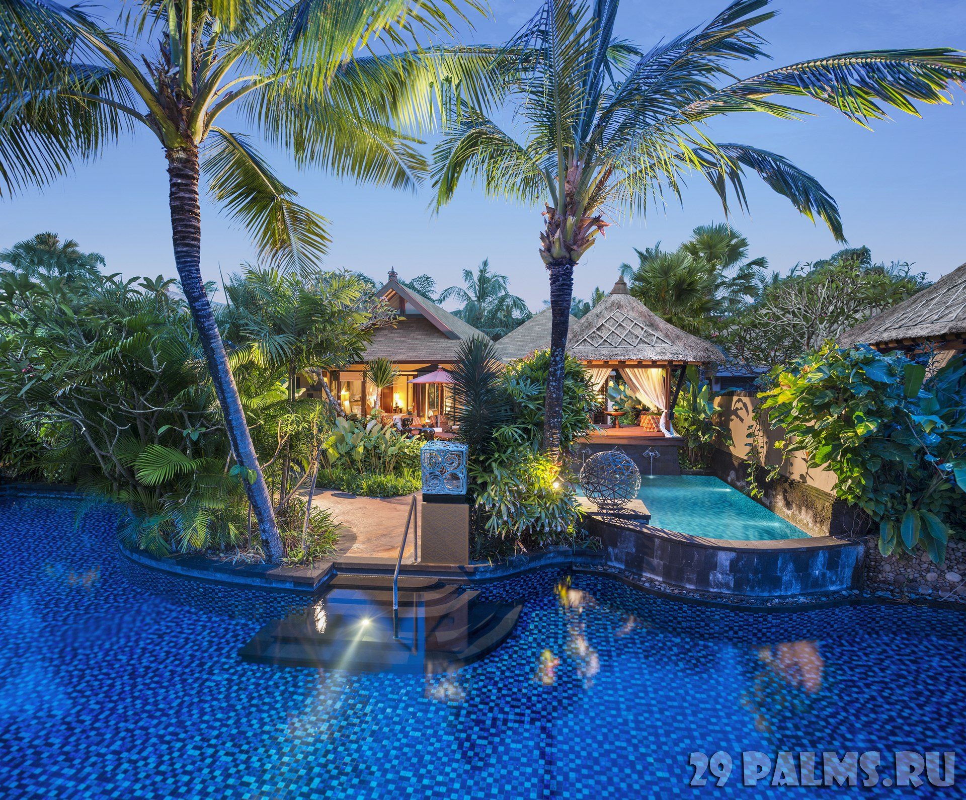 Индонезия.О.Бали. The St. Regis Bali Resort. Pool Villa - Salt Water Lagoon Access