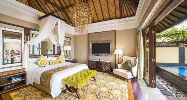 Индонезия.О.Бали. The St. Regis Bali Resort. The Strand Villa - Bedroom