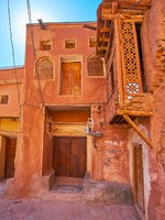 The medieval living houses in Abyaneh village, located in Karkas mountains and famous for red adobe buildings, Iran. Фото efesenko-Dep