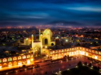 Иран. Исфахан. Мечеть Имама. View of Shah (Imam) Mosque. Naqsh-e Jahan Square in Isfahan, Iran. Фото weissdergeier - Depositphotos
