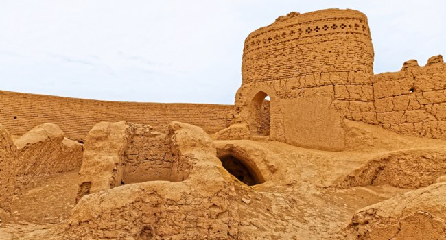 Narin castle in Meybod Iran is a mudbrick fort and one of the most important relics of the province built some 2,000 years ago. Фото dbajurin - Depositphotos