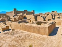 The archaeological complex of Arg-e Rayen is notable tourist landmark with preserved examples of ancient art, Iran. Фото efesenko - Depositphotos