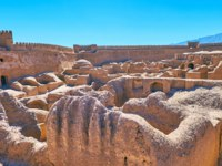 The famous ancient adobe fortress of Rayen is the perfect place to enjoy the unique architecture and history of desert lands, Iran. Фото efesenko - Depositphotos